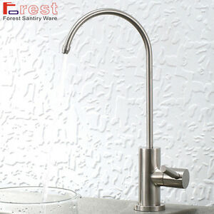 Brushed Nickel 304 Stainless Steel Drinking Water Filter Tap Single Lever Faucet