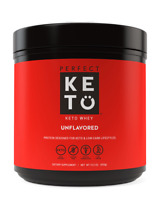 Perfect Keto Unflavored Whey Protein Powder Isolate W/ MCT Powder 100% Grass Fed