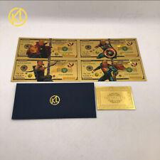 4types/lot Super Star America Man 1000000 US Dollars Gold Trump 2020 Banknote