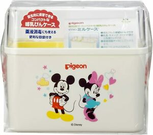 ☀ Pigeon Baby bottle case Disney pattern Mickey Mouse & Minnie From Japan
