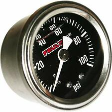 Feuling Black Face Back Port Oil Pressure Gauge for Harley Motorcycle 9043
