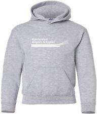 Amsterdam Airport Vintage Logo Dutch Airport Hooded Sweatshirt HOODY