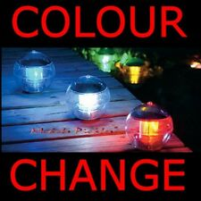 FLOATING/HANGING COLOUR CHANGE SOLAR POND GARDEN LIGHT