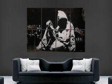 BANKSY GRAFFITI  HOODIE   GIANT IMAGE HUGE LARGE WALL ART POSTER PICTURE
