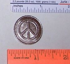 PEACE SYMBOL Sign Coin Pocket Token Card Guard