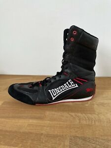 Lonsdale Box Boot Hi 00 Black Red Boxing Trainers Boots Size 11