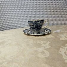 """Vintage! Johnson Bros. Cup & Saucer Made In England """"Horse Coach Scene"""""""