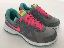 Womens Nike Revolution2 Nike Treainers Uk 4 Grey,pink,blue,preowned