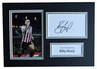 Billy Sharp Signed Autograph A4 photo display Sheffield United Football & COA