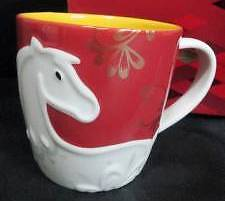 2014 Starbucks Horse  mug New Year  new on hand ready to ship sku sticker