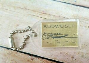 Vintage Miss Budweiser Hydroplane Racing Boat Flicker Flasher Keychain