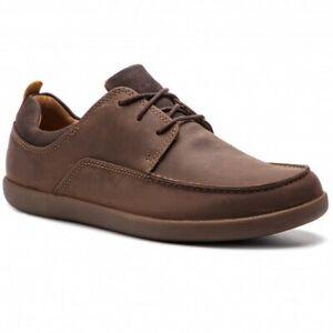 Clarks Mens Shoes UN LISBON LACE Dark Olive Leather UK 7/41 G