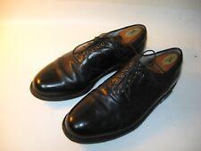 Footjoy Premiere Classics Dry Men's Black Leather Saddle Golf Shoes - US 10.5 D