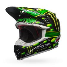 Bell Adult Moto-9 Carbon Flex MC Monster Replica 18.0 Helmet Black/Green Medium