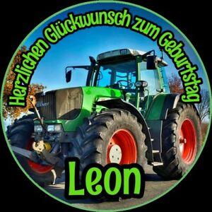 Tortenaufleger essbar Fondant rund 20cm durchmesser Geburtstag Traktor