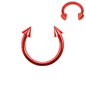 16g Spikes Circular Barbell Horseshoe Lip Nipple Septum Ring 6/8/10/12/14 Hoop