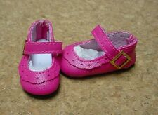 Doll Shoes, 47mm FUSCHIA Classic Ankle Straps - Bitty Bethany