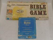 VINTAGE 1966 CADACO TEN COMMANDMENTS BIBLE GAME & 1984 CHILDREN'S BIBLE TRIVIA