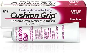 Cushion Grip - Thermoplastic Denture Adhesive 1 oz (28g) - UK Fast Dispatch