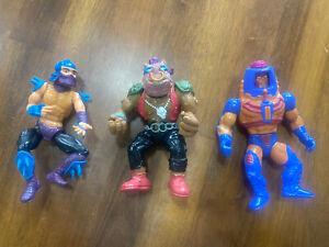 Vintage 1988 Teenage Mutant Ninja Turtles  TMNT Bebop, Shedder Hardhead, & Heman