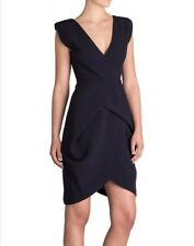 "BIANCA SPENDER ""Cocoon"" Wrap Dress Navy Size 10"