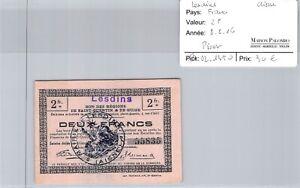 Bon des régions LESDINS - 2 Francs 8/8/16 - N°55835