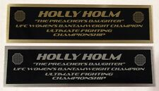 Holly Holm UFC nameplate for signed mma gloves photo or case