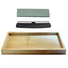 2 Side 1000/6000 Whetstone Sharpening Stone Kit Bamboo Base Knives Sharpener