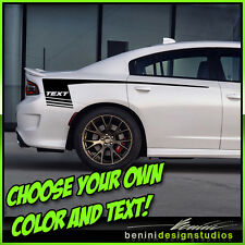 2015 and up Dodge Charger RT SRT SXT Scat Pack Hellcat Hockey Stripes Graphics 8