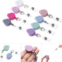 Card Anti-Lost Clip Stationery Clip Lanyards Key Ring Badge Holder Retractable