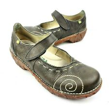 EL NATURALISTA Iggdrasil Mary Jane Flats Women's EU 37 US 7 Taupe Leather Shoes