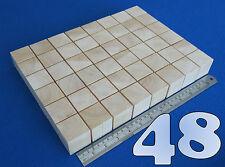 "LOT x 48 CUBES 1.6""/ 40 mm WOODEN BLOCKS BUNDLE SET PINE WOOD NATURAL ECO BRICKS"