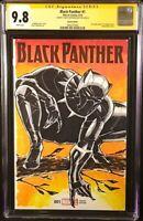 MARVEL Comics BLACK PANTHER #1 CGC SS 9.8 Original Sketch Art AVENGERS ENDGAME
