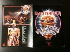 """Iron Maiden 12 Wasted Years 12x17 Color Promo For Video 12""""x17"""" MAKE AN OFFER!"""