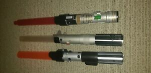 Star Wars Full Size Lights Sounds Plastic Extendable Lightsabers Hasbro Tested