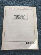 HP DC Power Supply Bench Series 6212C 6214C 6216C 6218C Operating Service Manual