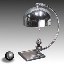 1930's Gilbert Rohde Attrib Chrome Arc Lamp • Machine Age Art Deco  • RESTORED