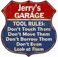 AARON/'S Garage My Tools My Rules V8 Wings 12x12 Metal Sign 211110026080