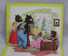 Vintage Three Bears Pop Up Book 1950s Artcraft Paper Products
