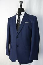 Men's New Alexandre Savile Row Tailore Fit Navy Checked Suit 40S W32 L29 AA587