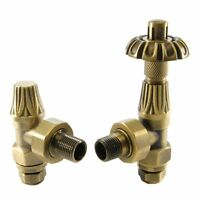 Abbey Traditional Thermostatic TRV Valve Set/Pair For Cast Iron Radiators