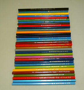 Small Collection of 33 Vintage Old Assorted Bulgarian Pencils, Copying & other