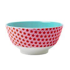 RICE Melamine bowl in pink star print