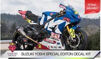 SUZUKI GSXR YOSHI  STYLE TRACKDAY BIKE DECAL KITANY COLOUR