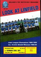 08.05.1984 Linfield FC - DDR, Freundschaftsspiel