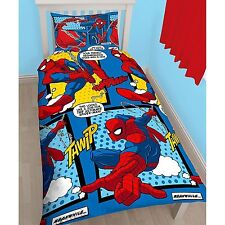 Marvel Spiderman Webhead Single Duvet Quilt Cover Set Boys Blue Red Bedroom