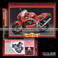 #020.01 Fiche Moto HONDA VTR 1000 SP-1 (SP1) 2000 Motorcycle Card