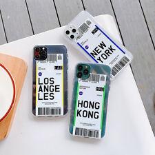 Para iPhone 11 Pro Xr XS Max 8 7 Plus X Suave claro caso cubierta de teléfono billete de avión