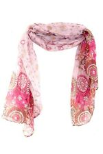 RETRO PINK LADIES VISCOSE INSPIRED RETRO PATTERN CUTE SCARF WINTER WEAR(MS9)