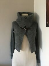 Unusual Cropped Wool Cardigan By BENNETON Size S